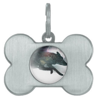 Running Wild Wolf Moon Sky Pet Name Tag