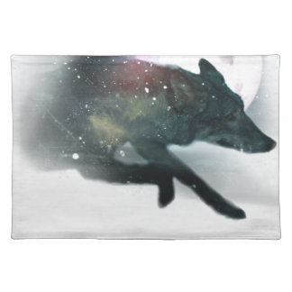 Running Wild Wolf Moon Sky Placemat