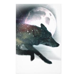 Running Wild Wolf Moon Sky Stationery