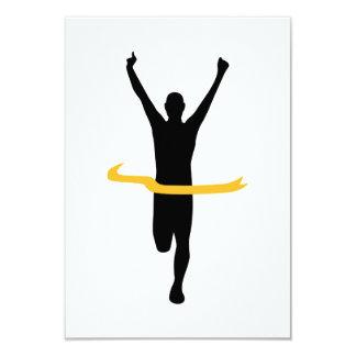 """Running winner 3.5"""" x 5"""" invitation card"""