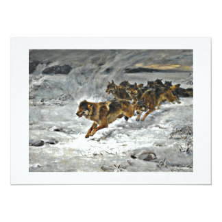 Running Wolf Pack Personalized Announcement