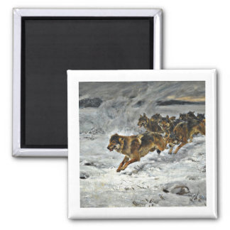 Running Wolf Pack Refrigerator Magnets