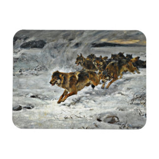 Running Wolf Pack Magnet