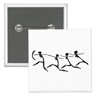 Running Women-BW 15 Cm Square Badge