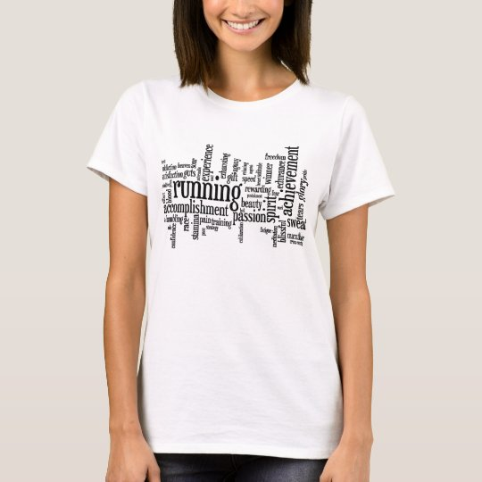 Running Word Cloud Womens Shirt