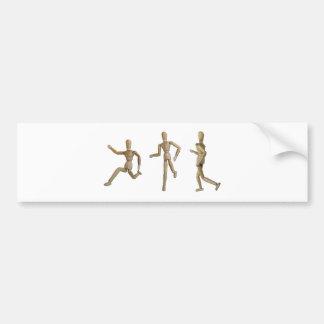 RunningJoggingWalking121211 Bumper Sticker