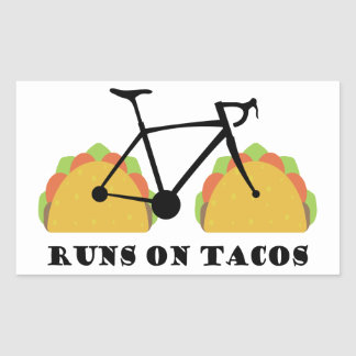 Runs On Tacos Rectangular Sticker