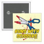 Runs with Scissors Badge