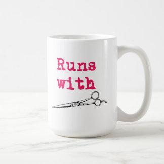 Runs With Shears Hair Stylist Mug