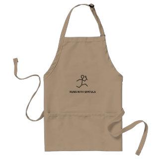 Runs with spatula standard apron