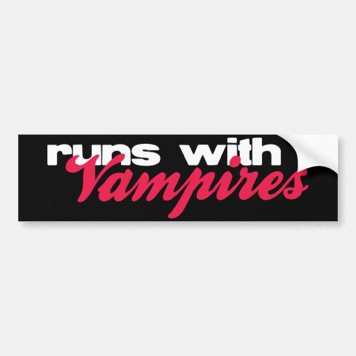 Runs With Vampires bumper sticker