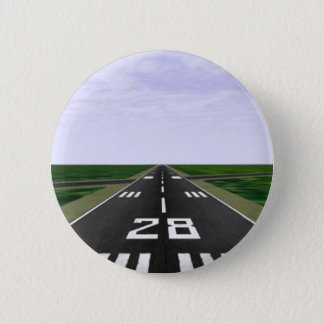 Runway 6 Cm Round Badge