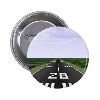 Runway 6 Cm Round Badge