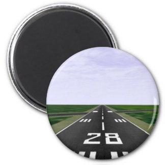 Runway 6 Cm Round Magnet