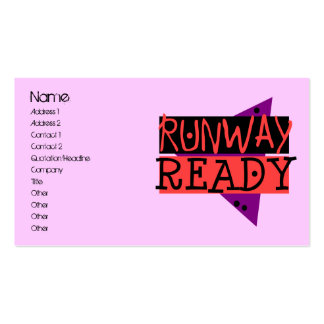 RUNWAY READY profile card Pack Of Standard Business Cards