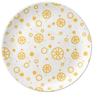 Ruote italian pasta design n. 1 porcelain plate
