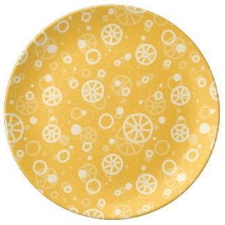 Ruote italian pasta design n. 2 porcelain plate