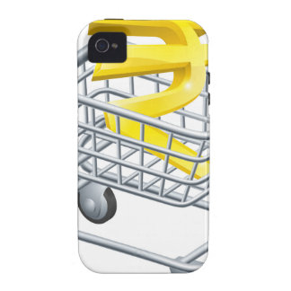 Rupee currency shopping cart vibe iPhone 4 case
