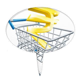 Rupee money trolley concept cake picks