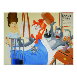 Rupert and Twinkles at the Hospital - Poster
