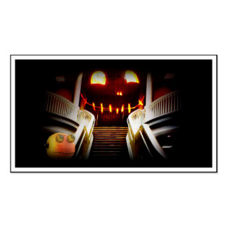 Rupert at the Spooky Staircase Pack Of Standard Business Cards