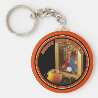 Rupert Pumpkin & The Swami Basic Round Button Key Ring