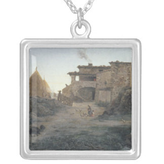 Rural Area, 1906 Silver Plated Necklace
