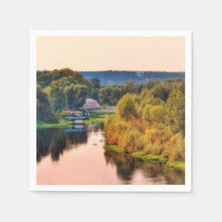 Rural Autumn Landscape Paper Napkin