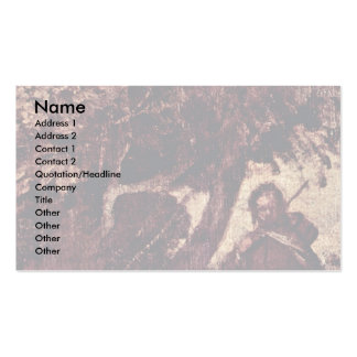 Rural Concert  By Giorgione Business Card Templates