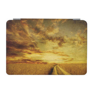 Rural dirt road through the field iPad mini cover