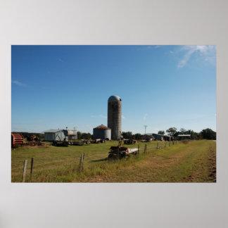 Rural Farm Silo Poster