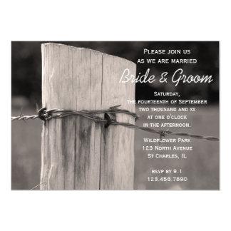 Rural Fence Post Country Ranch Wedding 13 Cm X 18 Cm Invitation Card