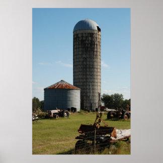 Rural Florida Farm Silo Poster