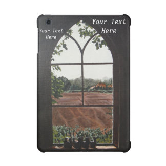 Rural landscape view from church window painting iPad mini retina cover