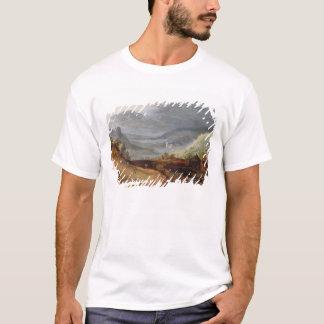 Rural Landscape with a Farmer Bridling Horses, a P T-Shirt