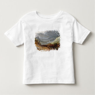 Rural Landscape with a Farmer Bridling Horses, a P Toddler T-Shirt