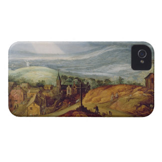 Rural Landscape with a Pilgrim Kneeling Before the iPhone 4 Cases