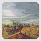Rural Landscape with a Pilgrim Kneeling Before the Square Sticker