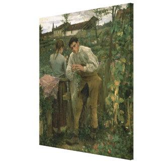 Rural Love, 1882 Canvas Print
