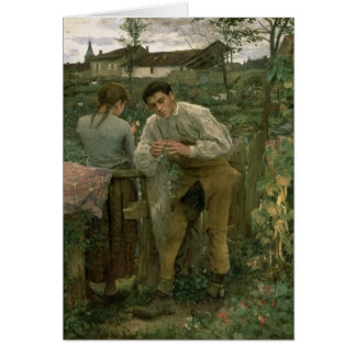 Rural Love, 1882 Greeting Card