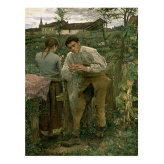 Rural Love, 1882 Postcard