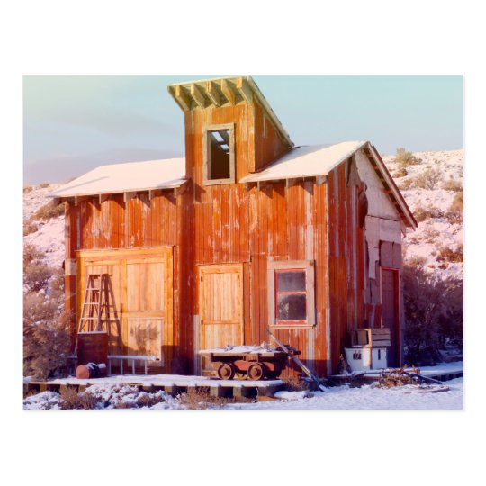 Rural Montana Country Rustic Old Wood ranch Postcard