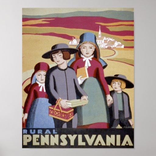 Rural Pennsylvania Travel Poster