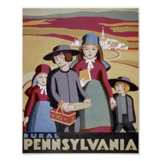 Rural Pennsylvania Travel Poster