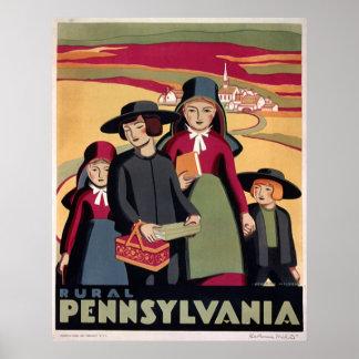 Rural Pennsylvania WPA Vintage Art Poster Print