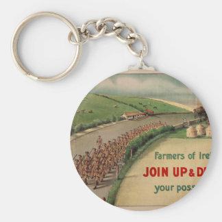 Rural Recruitment 1915_Propaganda Poster Basic Round Button Key Ring