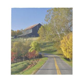 Rural road through Bluegrass region of Kentucky Notepad