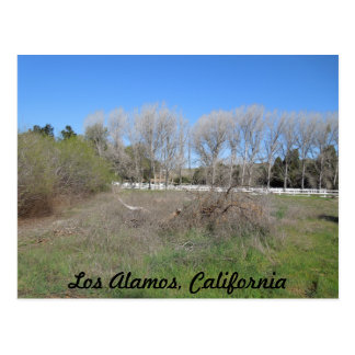 Rural Scene in Los Alamos, California Postcard
