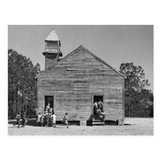 Rural Schoolhouse, 1937 Postcard