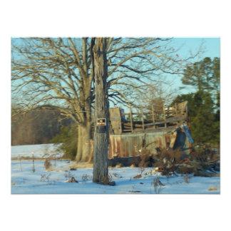 Rural Snow Scene Photo Art